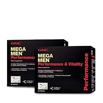 GNC Mega Men Performance Vitality Vitapak Program - Daily Multivitamin -Twin Pack