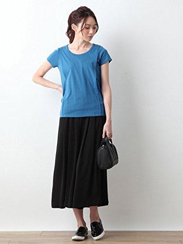 ANGELIEBE(エンジェリーベ)『産後授乳服綿混やわらかフライス半袖ラウンドネックTシャツ』