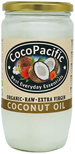 CocoPacific - Aceite de coco virgen extra bio y crudo, 750 ml