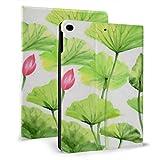 AQQA Coque Ipad personnalisée Vert émeraude Feuille de Lotus beauté fraîche Ipad Enfants Housse...