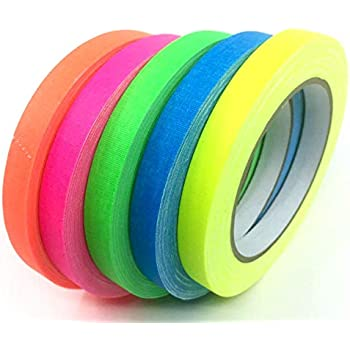 Gaffer Power Spike Tape - Premium Grid and Line Striping Adhesive Tape | Dry Erase Tape for Whiteboard | Art Tape| Pinstripe Tape for Floors, Stages, Sets, Metal | 5 Colors Beautiful Colors