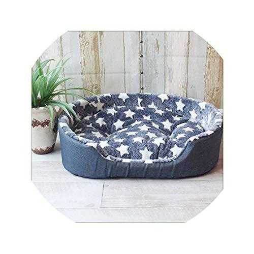 Pet Kennel House Warm Large Dog Bed Cat Cushion Mat Sofa for Big Dogs Cama para Cachorro Puppy Teddy Sofa S M L XL Size,Star,75cmX60cmX19cm