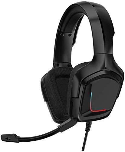 LIXXEZ Casque Gaming Headset Noir Style Simple avec Casque Double Audio stéréo Casque de Jeu