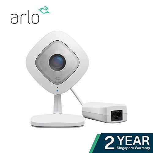 Arlo VMC3040S-100EUSQ Plus - Réinventez la Surveillance d'entreprise avec la Vidéo HD 1080p, Le Son Bidirectionnel, la Connectivité PoE et Le Stockage Local, Blanc