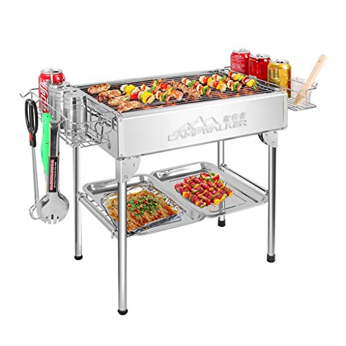 Purchase Barbecue Grill Stainless Steel Grill Charcoal Tools Picnic Folding Oven Patio BBQ BBQ, Full...
