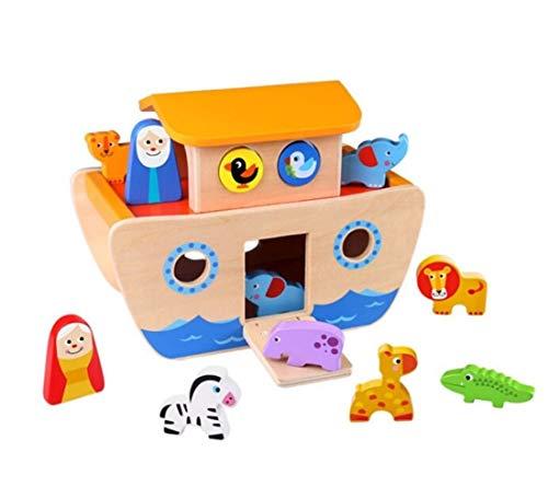 Brinquedo Madeira Arca de Noé 24m+