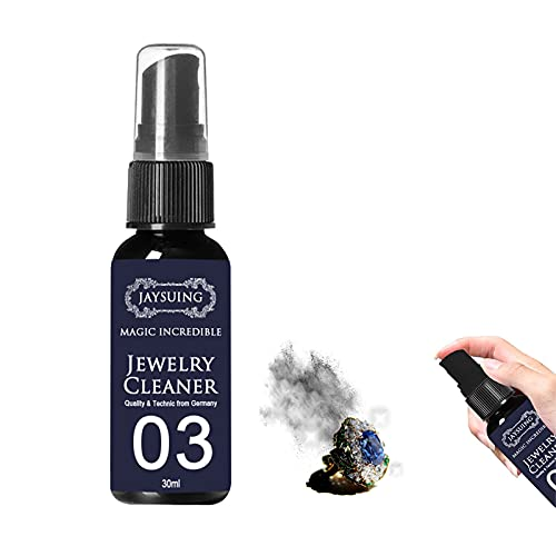 Jewelry Cleaning Spray, Tarnishgone Jewellery Cleaner and Polish, Rust Remover Spray, All Metal Polish Spray, for Gold, Silver, Gems, Platinum, Metal (30ML)