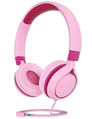 MPOW CH E1 Kids Headphones, Wired Headphones for Kids Teens, Children Headphones with Volume Limit, Foldable Adjustable On-ear Headphones for School,Travel, Compatible with Cellphones, Tablets, PC