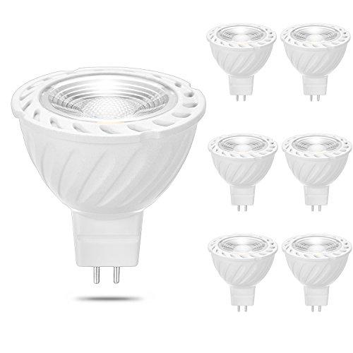 MATMO 6er Pack MR16 GU5.3 COB LED Reflektorlampe, 590lm, Ersatz für 50W Halogenlampen, 7W LED Lampe, 12V AC/DC, Warmweiß,30°Abstrahlwinkel, LED Spotlight Lampen [Energieklasse A+]
