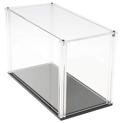 Tubayia acrílico Transparente Vitrina Modelo escaparate Ausstellung Box–Caja para Figuras/Estatua/Colección, D 26 x 13 x 17 cm