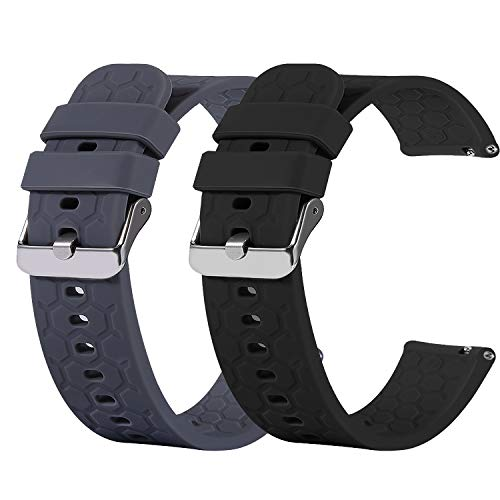 Ruentech - Correa de Silicona para Samsung Galaxy Wtach Active 2 (40 mm, 44 mm, para Galaxy Watch Active/Gear S2 Classic/Gear)