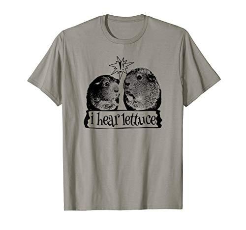 Funny Guinea Pig T Shirt Hungry Vegetarian Vegan Salad Lover