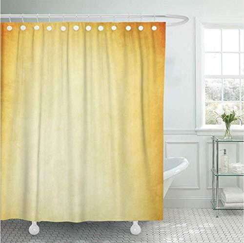 WIXIJAWR Duschvorhang Orange Abstract Grunge Gelb Vintage Alter Antike Antike Künstlerische Rückseite Helles Badezimmer,200X200Cm