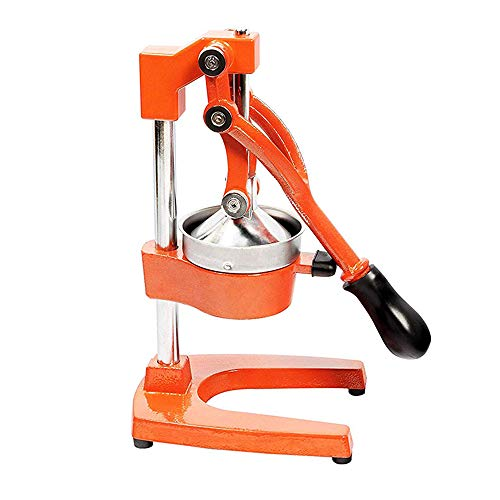 ZGYQGOO Hebel Action Mixer, Chip Cutter Fruit Slicer 3-In-1-Hebel-Mechanismus Scheibenschneider Chip Cutter Inklusive Citrus Orange Zitronengranatapfel Leicht Austauschbar, Orange