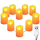CLOOM 1.5M Vela LED Luces De Té Sin Llama Velas Led De Té Velas Eléctricas USB Día De San Valentín, Halloween, Navidad, Decoración De Cumpleaños Guirnalda Luces 10 LED