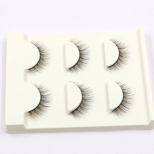 VanMe 3 paires de type souple 3D Faux Cils Maquillage nu naturel cils Courts 36