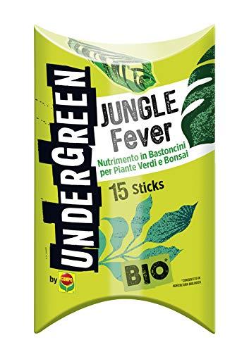 Undergreen JUNGLE Fever, Nutrimento in Bastoncini per Piante Verdi e Bonsai, 15 Bastoncini, Consentito in agricoltura biologica