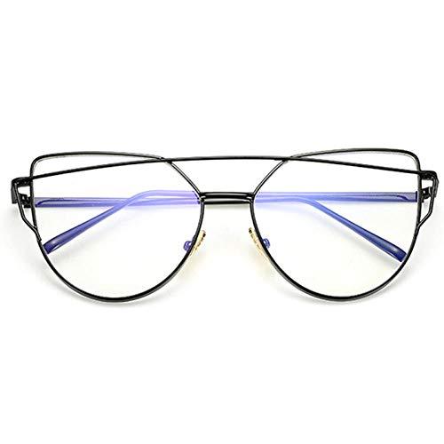 chuanglanja Gafas De Sol Wayfarer Gafas De Sol De Ojo De Gato Para Mujer Gafas Reflectantes De Metal Vintage Para Mujer Espejo Retro-Color-H