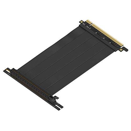 LINKUP - {15 cm} 16x Riser Kabel Super Abgeschirmt Twinaxial PCI Express Steigleitung Kabel Portverlängerungs-Platte 2020 Rev | 90 Grad Buchse