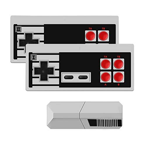 KENANLAN Retro Classic Minispielkonsole Spielkonsolen für Kinder Integriertes 600-Spiel-Handheld-Spielekonsole mit doppelter Steuerung für TV-Videos