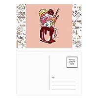 チョコレート・ビスケット・ドーナツカップアイスクリーム 公式ポストカードセットサンクスカード郵送側20個
