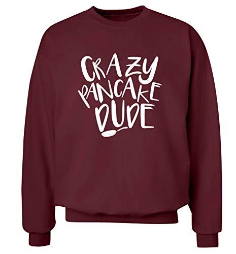 Flox Creative Erwachsene Unisex Pullover Crazy Pancake Dude Gr. XS-86 cm, kastanienbraun