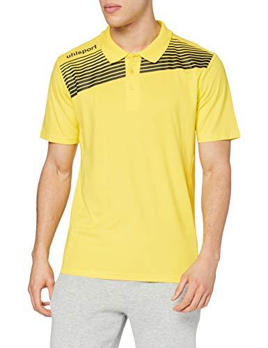 uhlsport Kinder Liga 2.0 Polo Shirt Bekleidung Teamsport, limonengelb/Schwarz, 164
