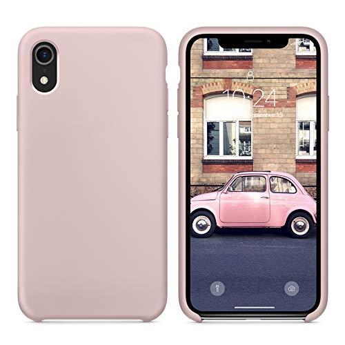 SURPHY Funda iPhone XR, Carcasa iPhone XR Silicona Anti Choques con Forro Suave de Microfibra, Funda Case Teléfono Anti-rañazos de para iPhone XR 6.1 Pulgadas(2018), Rosa