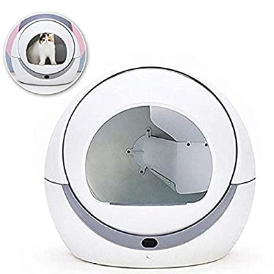 BABIFIS Automatic Cat Toilet Automatic Cat Sandbox Induction Rotary Cleaning Cat Robot Litter Large Kitty Self Cleaning Litter Box