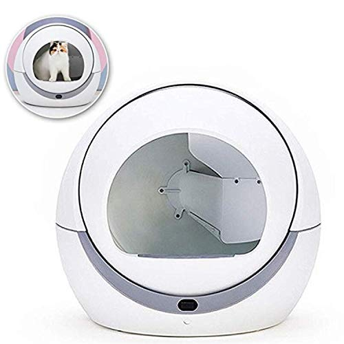 BABIFIS Toilette Automatique pour Chat Automatique pour Chat Bac à Sable à Induction Nettoyage Rotatif Chat Robot Litière Grand Kitty Boîte à litière Auto-nettoyante