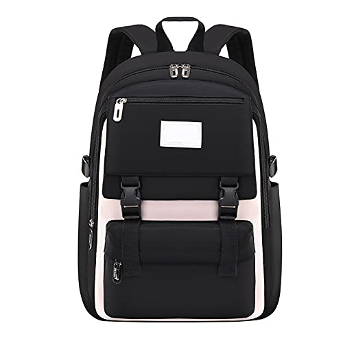 Schulrucksack Schultaschen für Mädchen Teenager, Casual Canvas Schulrucksack Causal Rucksack Freizeitrucksack Daypacks Backpack für Mädchen Jungen Teenager Laptop Rucksack Outdoor Reisetasche