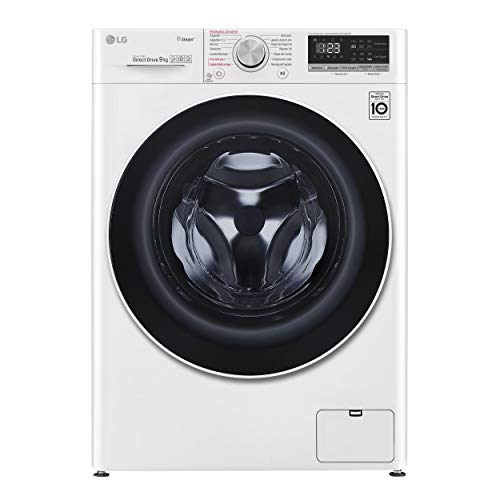 LG F4WV509S0 - Lavadora Inteligente 9 kg con tecnología AI Direct Drive (1400 RPM, Eficiencia Energética A+++ -40%, lavado con vapor LG Steam+, Smart ThinQ con Smart Diagnosis) color blanco