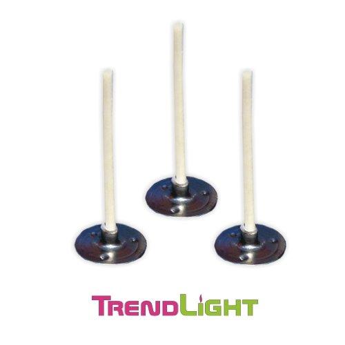 TrendLight Kerzendochte - Teelichtdochte mit Fuß gewachst 100 Stück 35 mm - Teelichtdocht