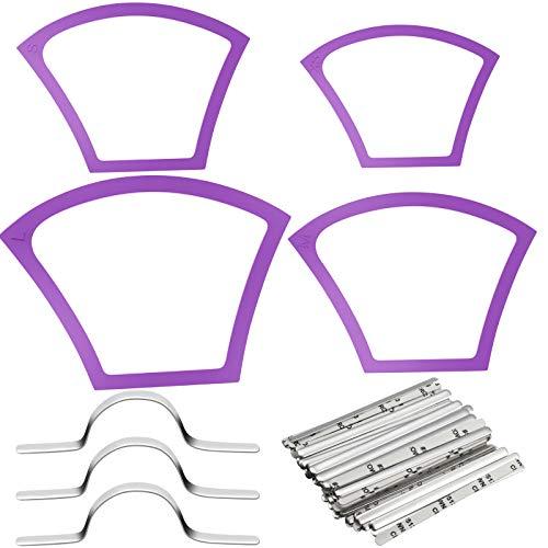Modelli di Cucito di Viso Copertura Protettore di Plastica in 4 Diverse Dimensioni Righello per Cucito con 100 Strisce del Ponte di Naso in Alluminio Filo per Naso Piatto per Righello Cucito a Mano