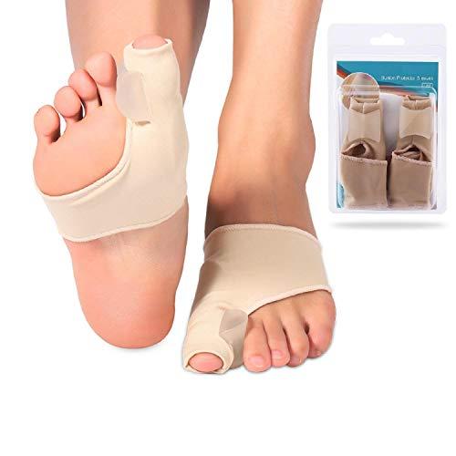 Hallux Valgus Bandage Korrektur, Gel Pad Zehenspreizer Socken Toe Separators Schiene zur Tag und Nacht Hammerzehe Correction für überlappende Zehe flacher Fuß Schmerzlinderung