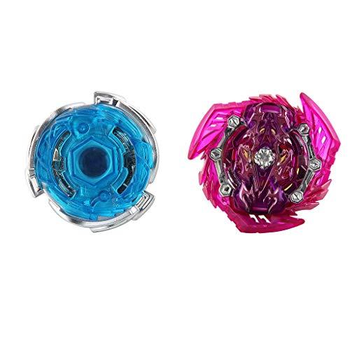 Baoblaze 2 Piezas Juguete de Peonza de Batalla sin Lanzador Spinning Top Toy Juego de Diversión para Niños B-140-02 B-140-04