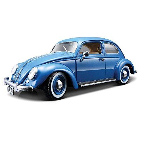 BBurago 1955 Volkswagen (フォルクスワーゲン) Kafer Beetle (ビートル) 1/18 Blue BB12029-BL ミニカー ダイキャスト 自動車 (並行輸入)
