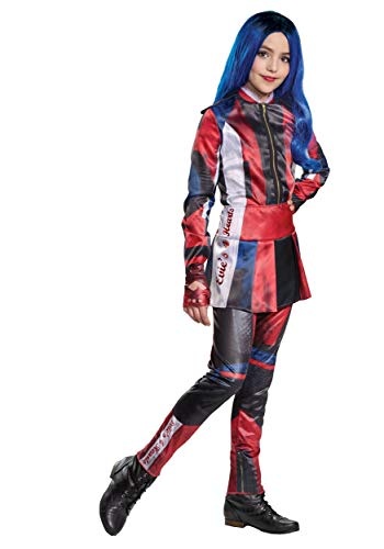 Disguise Disney Evie Descendants 3 Deluxe Girls Costume, Red, Small (Ize/4-6X)