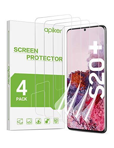 [4 Stück] apiker TPU Schutzfolie für Samsung Galaxy S20 plus/S20+, Samsung Galaxy S20 plus Bildschirmschutzfolie, blasenfrei, hohe Definition, hohe Empfindlichkeit
