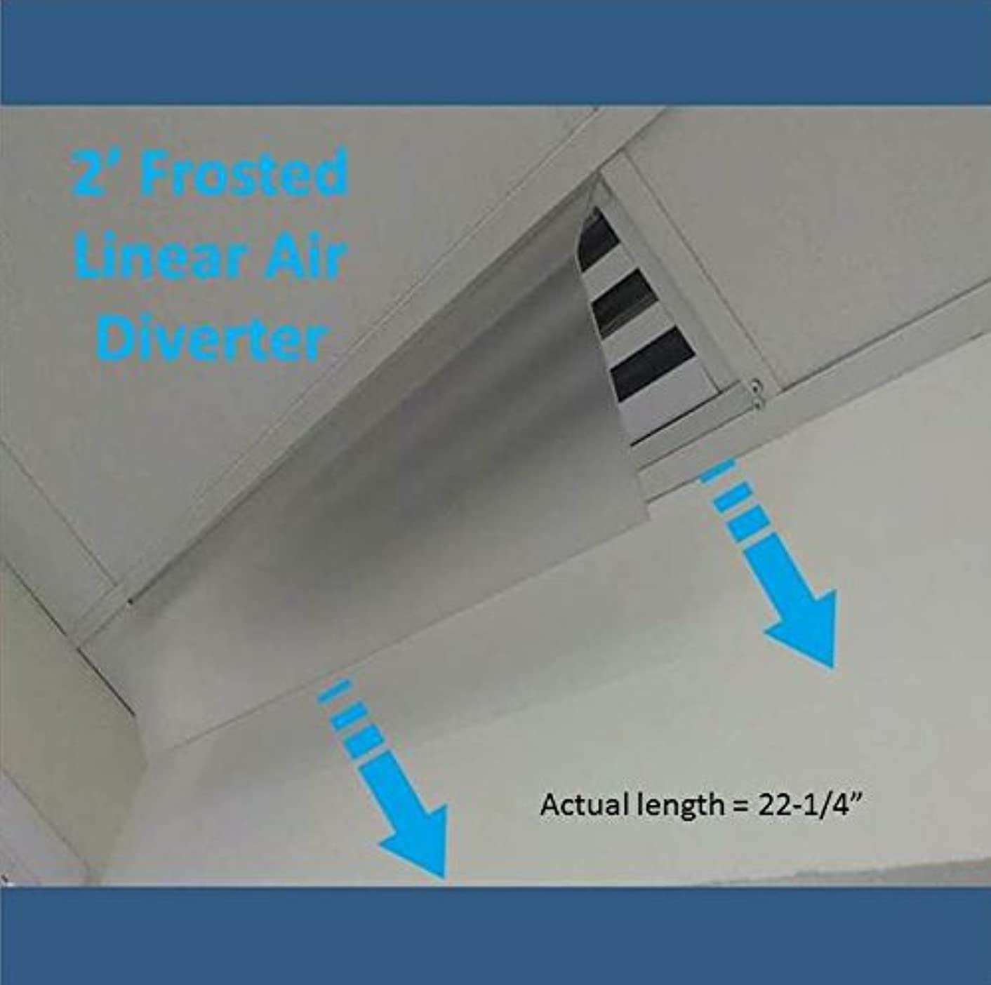 2' Long Frosted Linear Air Diverters (22-1/4