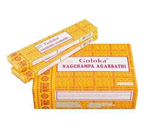 YesMandala Incienso Goloka Nag Champa, 12 Cajas