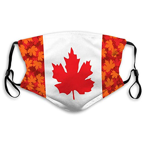 Mundschutz Unisex-Gesichtsschutz mit äußeren Deckeln der Maple Leaf Canada Flag