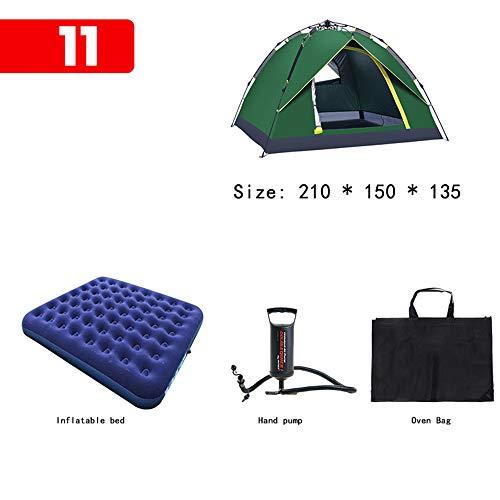 NANE Tiendas de campaña Familiares,Tienda de Doble Capa Portátil Ultraligera, Impermeable,para 2-3 Personas, automático, emergente, Carpa,para Trekking, Camping, Playa, Aventura Etc,Package11