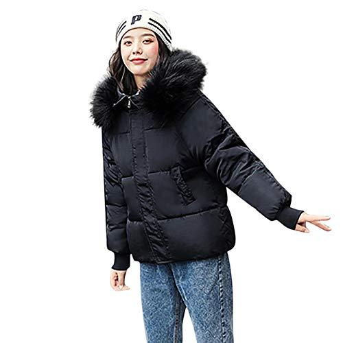 SHANGYI wintermantel met capuchon voor dames, katoenen mantel voor dames, warme losse katoenen mantel
