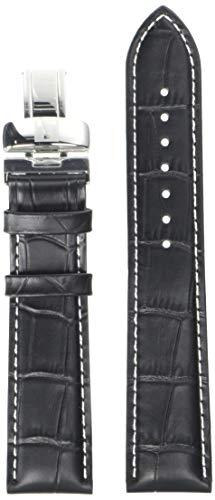 Tissot unisex-adult Leather Calfskin Watch Strap Black T600031121
