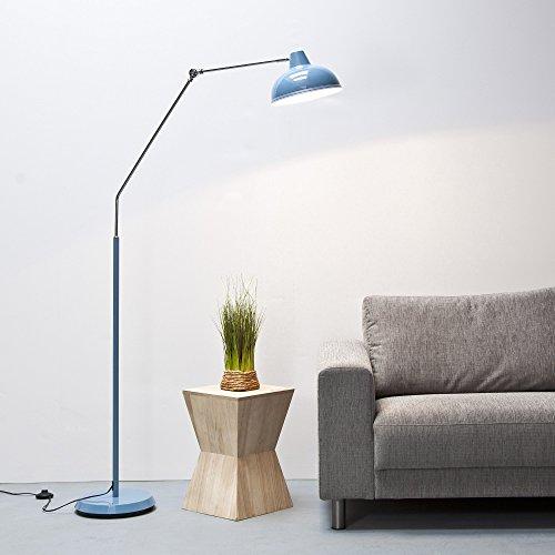 Moderna lampada a stelo dal Design retrò, altezza 190cm, metallo cromato