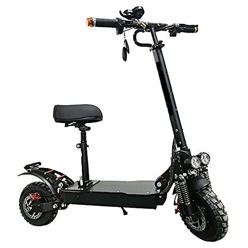 WAMY Patinete Eléctrico, Potencia máxima, hasta 65 KM de Largo Alcance y 65 KM/H Scooter portátil Plegable para Adultos con Doble Sistema de frenado para Adultos