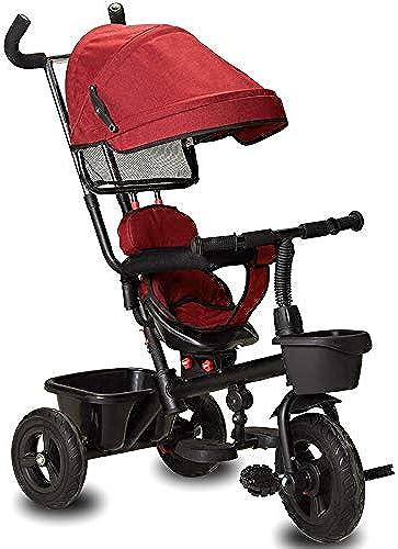 YUMEIGE Dreir r Kinder Dreirad 1-6 Jahre altes Geschenk mit Markise Drehbarer Sitz Geburtstag Dreirad Last Gewicht 35 kg