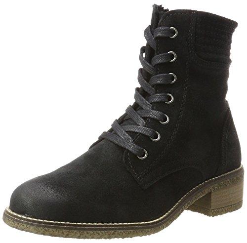 Tamaris Damen 25287 Combat Boots, Schwarz (Black/Pewter), 41 EU
