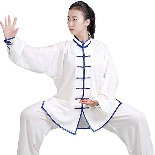 HLZY Uniformes Tradicionales Chinos de Tai Chi Kung Fu Tai Chi Ropa Mujeres Martial Arts Uniforme Adultos Viento Chino Ropa Kung Fu (Color : A, Size : X-Large)